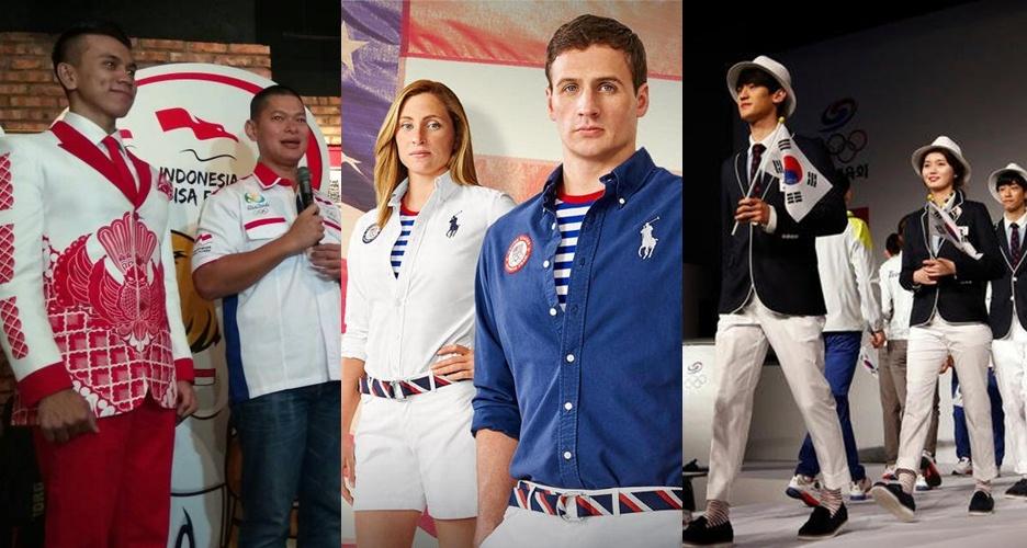 10 Kostum negara peserta olimpiade Brasil, mana nih yang paling keren