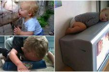 20 Foto kelakuan konyol anak kecil yang bikin ngakak, duh dek!
