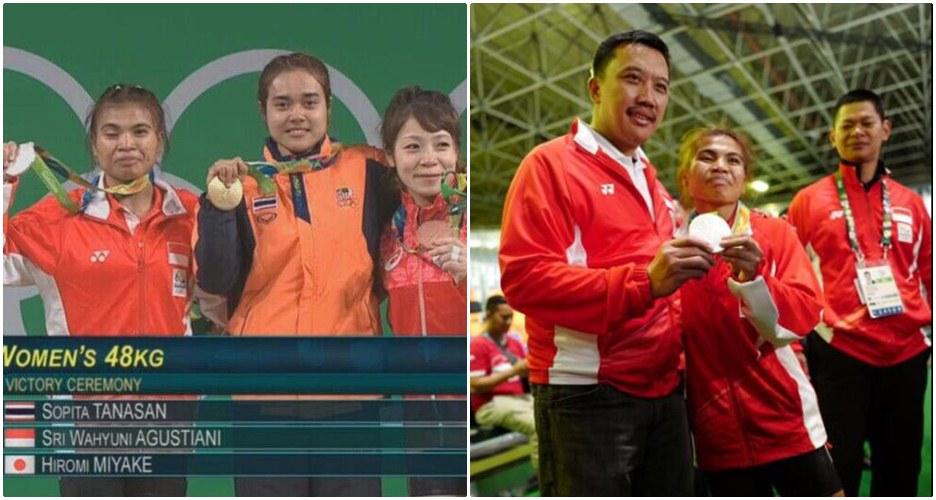 4 Foto aksi Sri Wahyuni, peraih medali pertama Indonesia di Olimpiade!