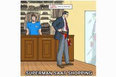 Ini jadinya kalau para superhero sedang shopping, keren juga nih!