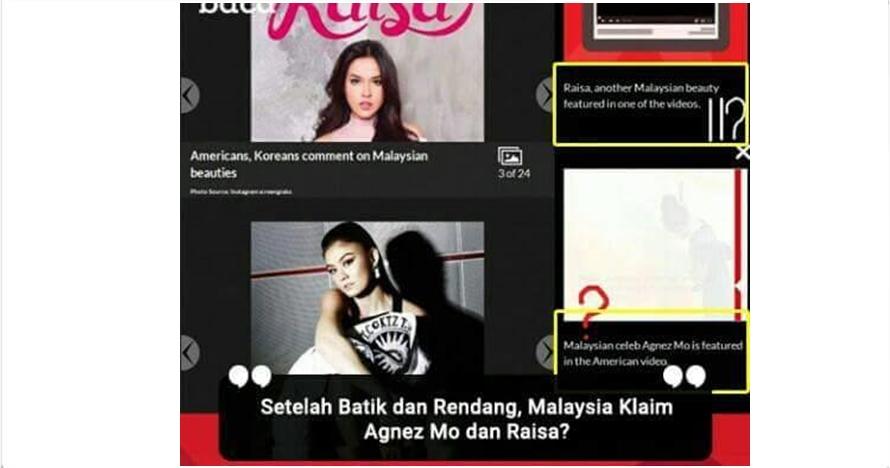Raisa & Agnez Mo diklaim artis Malaysia, netizen Indonesia ngamuk!