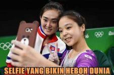 Foto selfie dua atlet cantik ini jadi perbincangan netizen, kenapa ya?