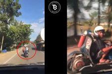 Cuma di Indonesia, motor setangnya di belakang!