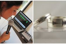 Unik, cincin pernikahan ini diukir rekaman gelombang suara