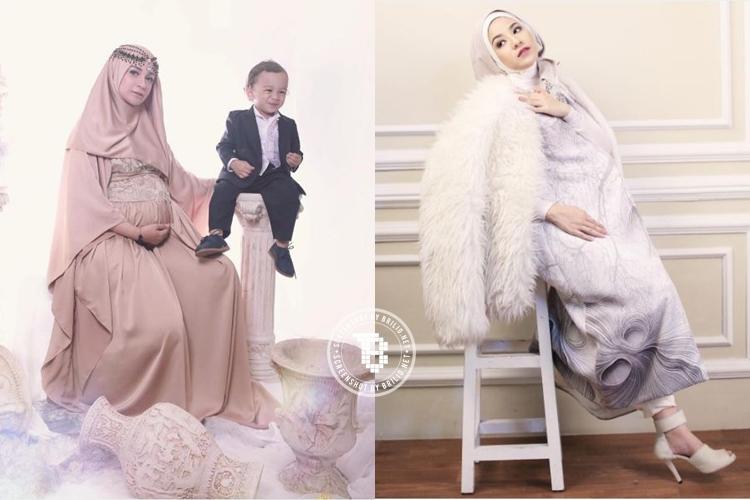 Nggak melulu pamer perut, foto kehamilan 6 artis berhijab ini keren