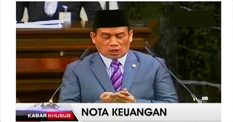 Doa usai pidato Jokowi di sidang Tahunan MPR 2016 ini tuai kontroversi