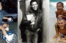 12 Foto Barack Obama saat balita hingga remaja, ternyata gemar basket