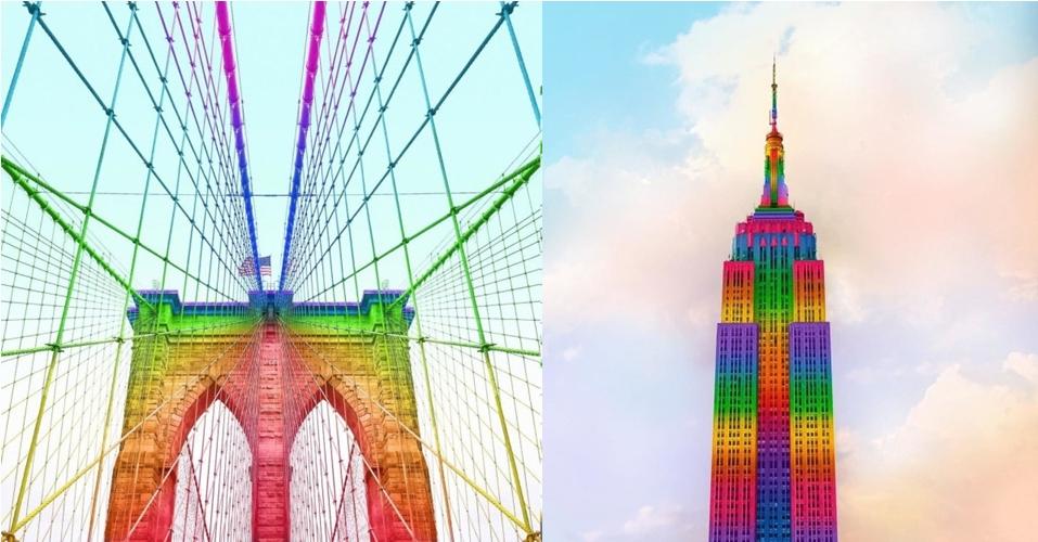 12 Foto manipulasi lingkungan berwarna pelangi, bikin mata seger nih..