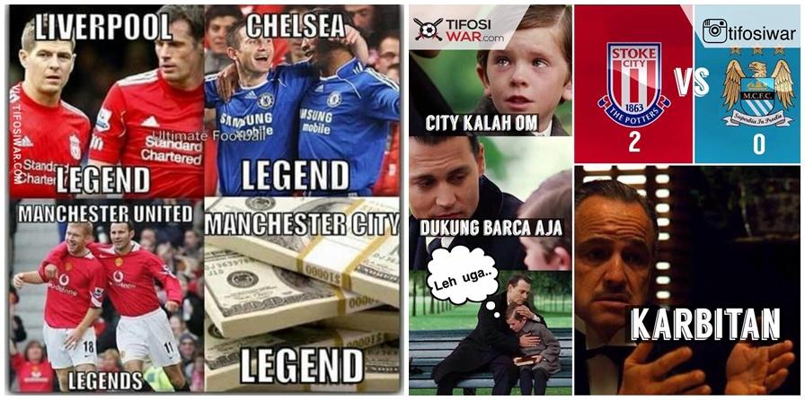 11 Meme sindir keras Manchester City, dari OKB sampai stadion kosong