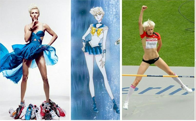 Ariane Friedrich, atlet lompat tinggi yang mirip Sailor Moon