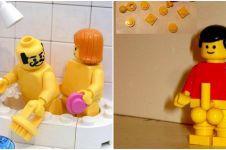 15 Kreasi bentuk lego jika dimainkan orang dewasa, imajinasinya liar