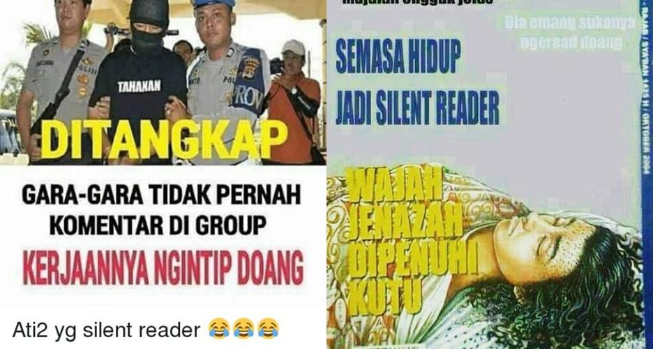 13 Meme sindir silent reader di grup chat ini bikin ngakak