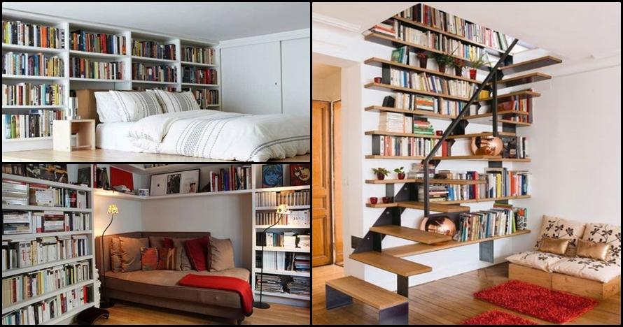 15 Model perpustakaan mini di dalam rumah, kamu bisa menirunya..