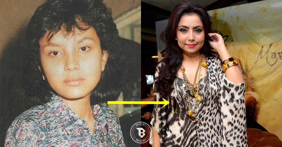 13 Foto transformasi Mayangsari dari culun hingga cetar membahana