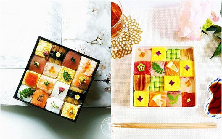 12 Sushi berbentuk mozaik, unik banget bikin nggak tega makan