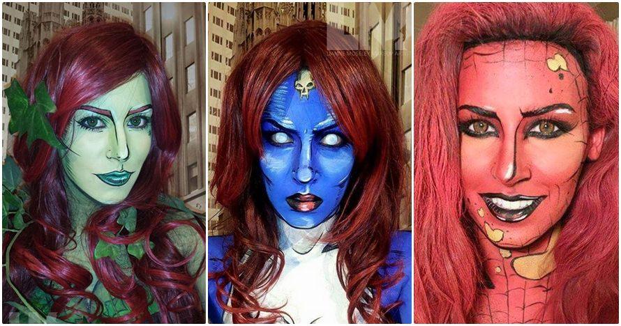 25 Foto keajaiban makeup bikin wajah persis tokoh komik, wow abis..
