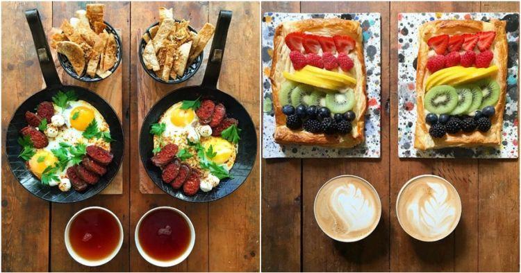 20 Foto makanan 'copy paste' ini keren luar biasa, nggak tega makan..