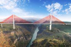 10 Foto jembatan tertinggi di dunia ini pasti bikin kamu terpukau