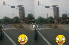 Lampu lalu lintas di perempatan ini bikin bingung, kamu tahu sebabnya?