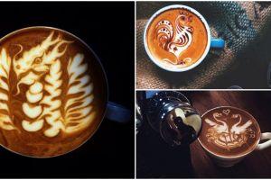 20 Karya latte art barista asal Bandung ini keren, tega meminumnya?