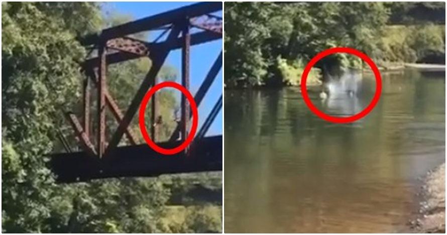 Orangtua ini bersorak gembira saat anaknya dilempar ke sungai, duh