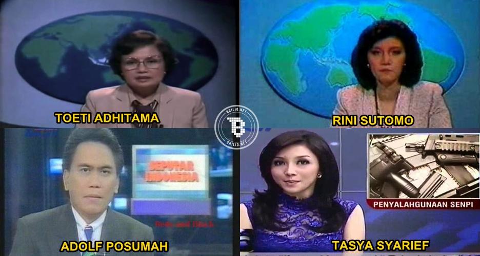 Ini 10 foto evolusi pembawa berita Indonesia dari masa ke masa