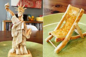 Pria ini setiap pagi bikin patung roti untuk sarapan anaknya, kreatif