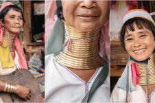 Tradisi kecantikan wanita Suku Kayan di Myanmar, pakai cincin di leher