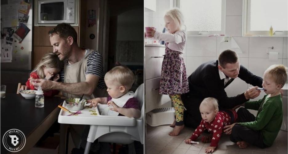 18 Foto perjuangan ayah membesarkan anaknya seorang diri, terharu