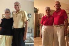 Pasangan kakek-nenek ini selalu kenakan pakaian couple, bikin iri deh!