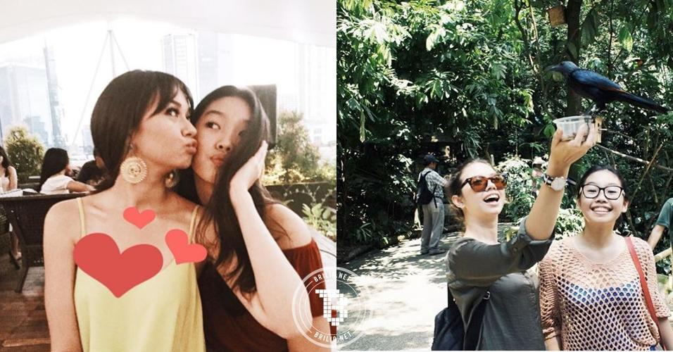 9 Foto kedekatan Yuki Kato dan adiknya, cantikan siapa hayo?