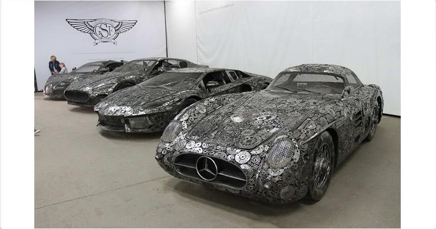 Percaya nggak percaya, mobil mewah ini terbuat dari besi bekas