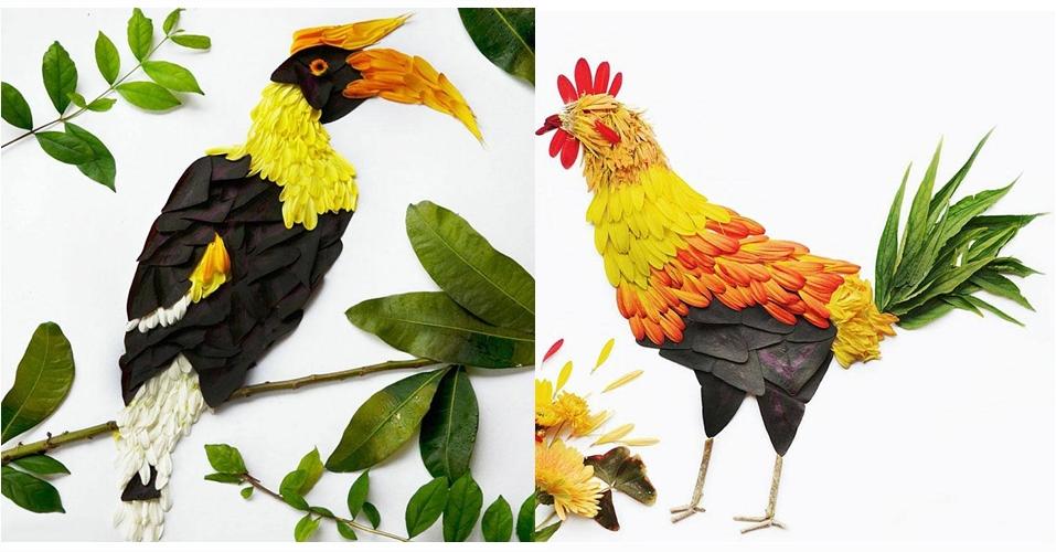 10 Gambar hewan ini dibuat dari rangkaian bunga, keren euy