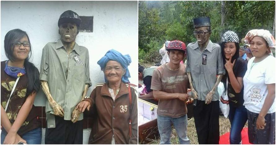 Cuma ada di Indonesia, tradisi berfoto selfie dengan mayat, hiii serem