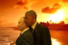 13 Editan foto pertemuan Obama dan Putin, bikin gagal tegang nih