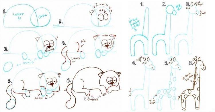 9 Trik Keren Menggambar Hewan Ini Bisa Kamu Ajarkan Ke Anak Anak