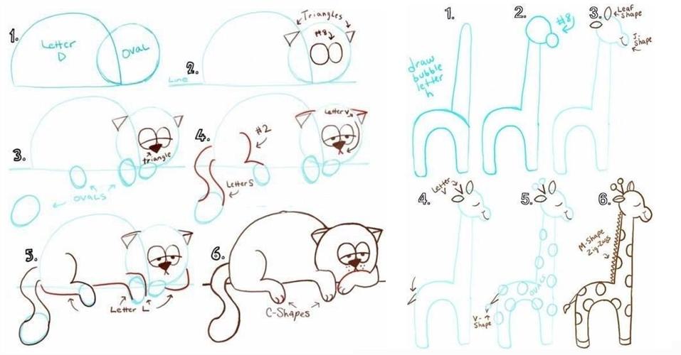 9 Trik keren menggambar hewan ini bisa kamu ajarkan ke anak-anak