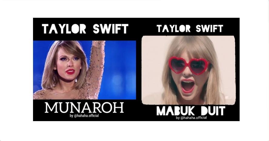 5 Video editan Taylor Swift asyik nyanyi dangdut koplo ini gokil abis