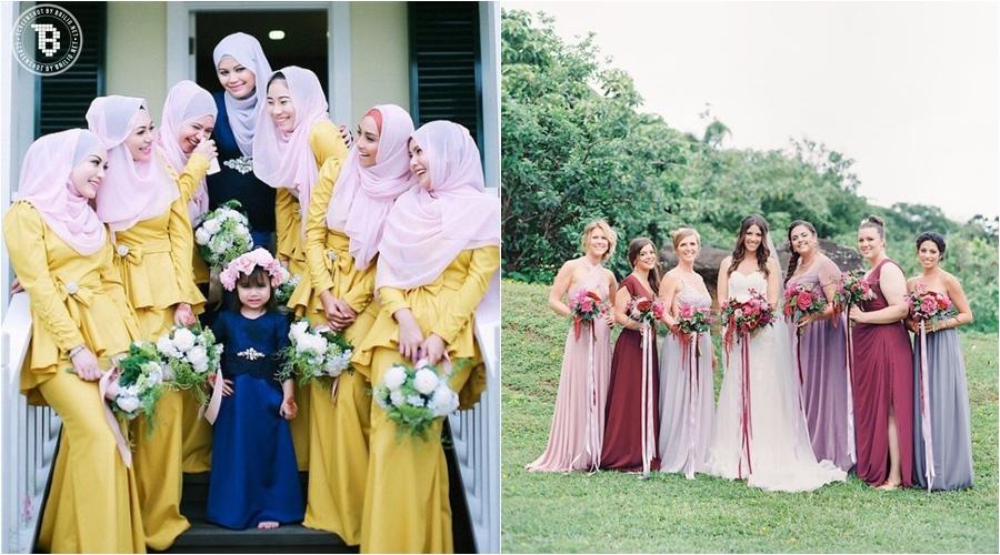 20 Model seragam pengantin untuk temani sahabatmu di hari pernikahan