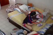 Pembantu ini terekam kamera CCTV memukuli nenek berusia 96 tahun