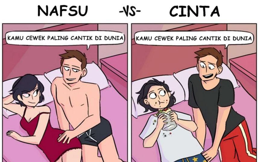 5 Komik ini tunjukkan beda nafsu dengan cinta, hayo kamu yang mana?