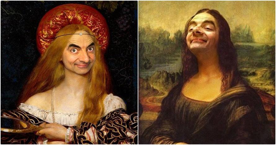 12 Lukisan tokoh dunia berwajah Mr Bean ini berhasil bikin ngakak