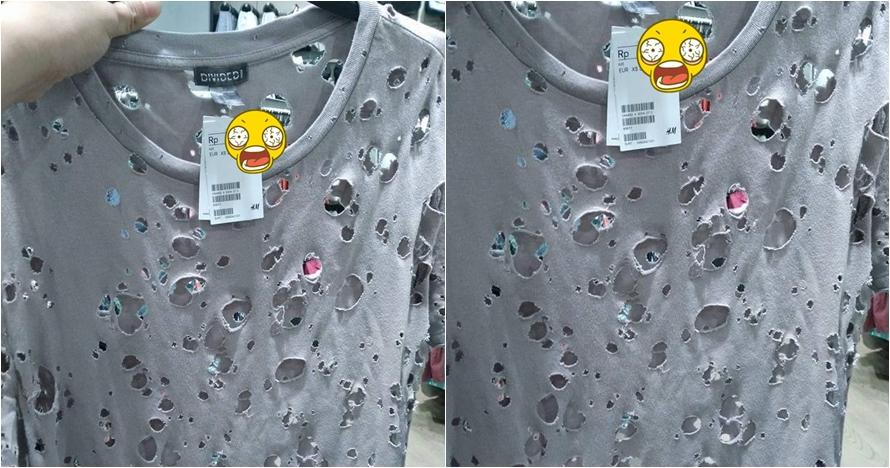 Kaus robek layaknya gembel ini dijual dan harganya fantastis, wah!