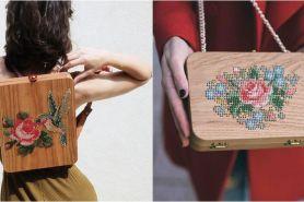Terinspirasi dari alam, 15 tas kayu ini dihiasai dengan sulaman