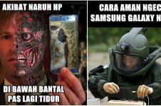 15 Foto editan kocak sindir Galaxy Note 7 yang gampang meledak, ups..