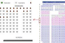 Ini penyebab kenapa deretan kursi di bioskop tak ada huruf 'I' dan 'O'