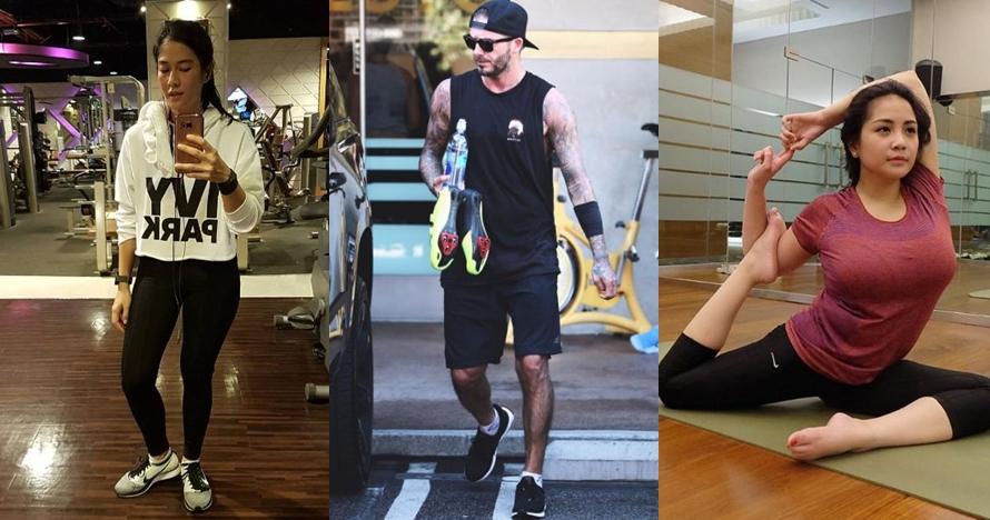 10 Gaya seleb saat pakai baju olahraga, keringetan tapi tetap kece