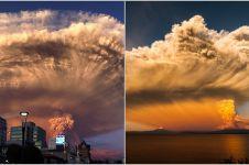 13 Foto erupsi gunung berapi yang mirip dengan bom atom