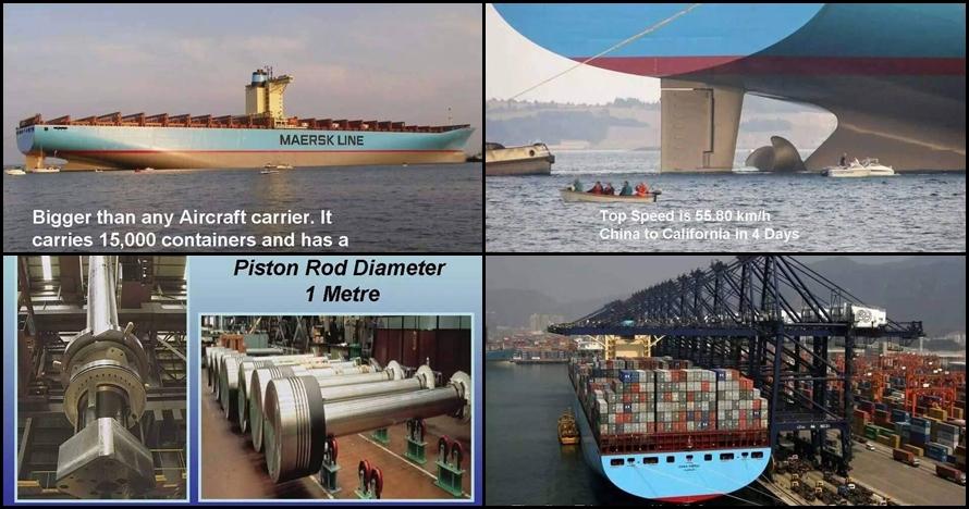 12 Foto kapal Emma Maersk yang mampu angkut 15 ribu kontainer, wow!