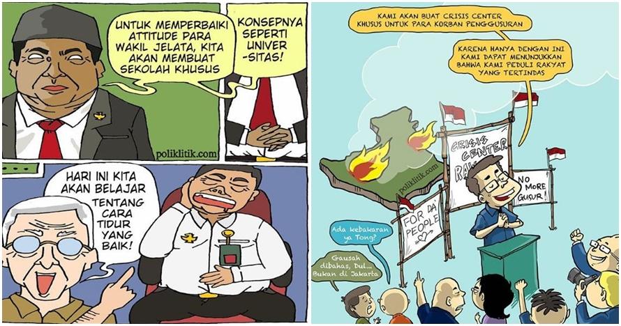 15 Komik strip ini sindir situasi politik Indonesia, bikin geram nih..